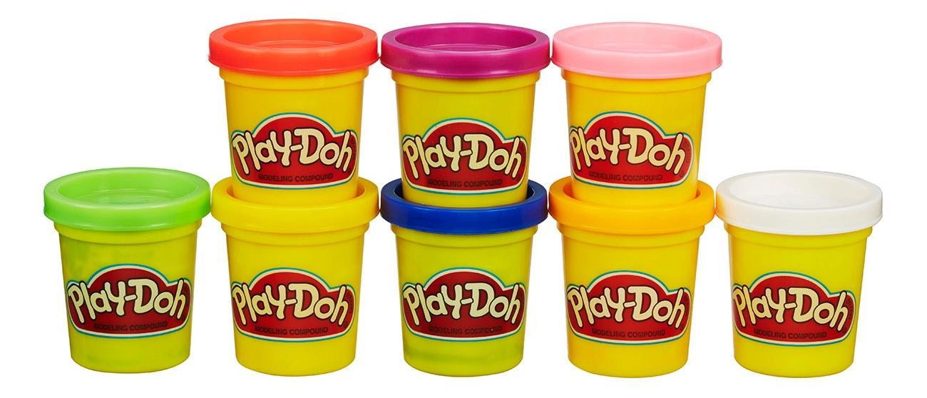 Пластилин play doh набор из 8 баночек