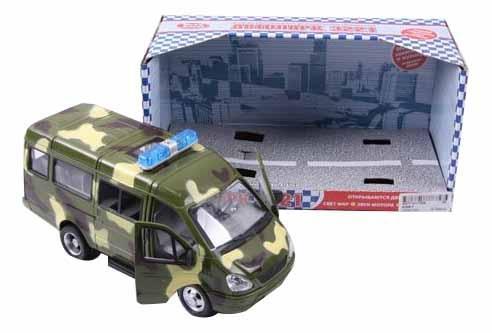 Купить Газель 3221 военная, Машина военная Play Smart р40531, PLAYSMART, Военный транспорт