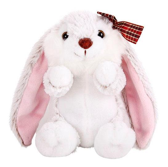 Купить Мягкая игрушка Button Blue Крольчиха с бантиком19 см, Мягкие игрушки животные