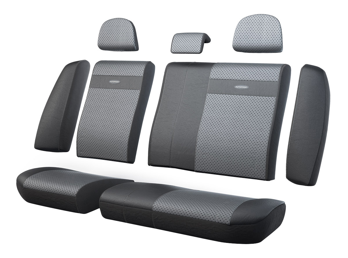 Комплект чехлов на сиденья Autoprofi TRS-002G BK/D.GY фото