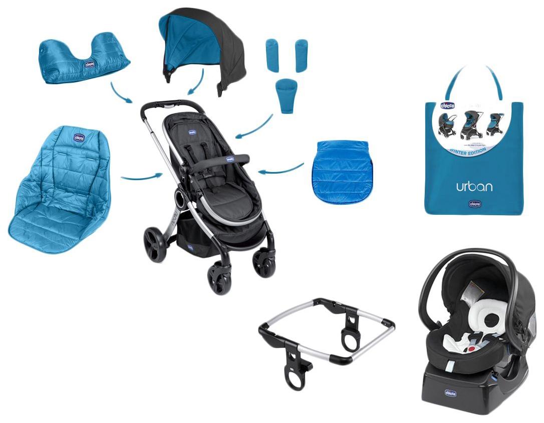 Купить Цветной вкладыш для коляски Chicco Urban Plus Power Blue, Капюшоны на коляску