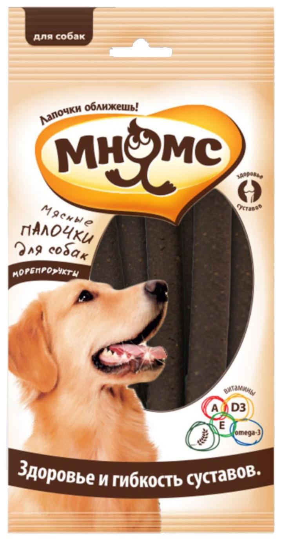 Лакомство для собак Мнямс, мясные палочки для собак, здоровье и гибкость суставов, 123г