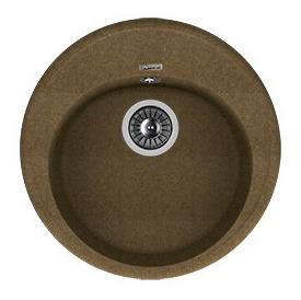 Мойка для кухни гранитная Florentina Лотос 510 коричневый