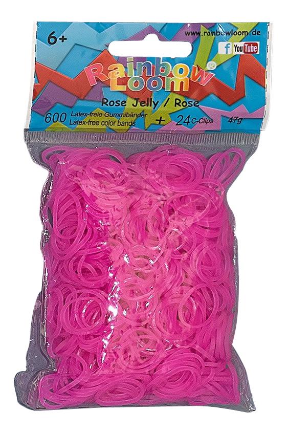 Плетение из резинок Rainbow Loom Rose Jelly pink