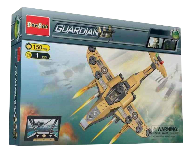 Конструктор пластиковый BanBao Военный самолет фото