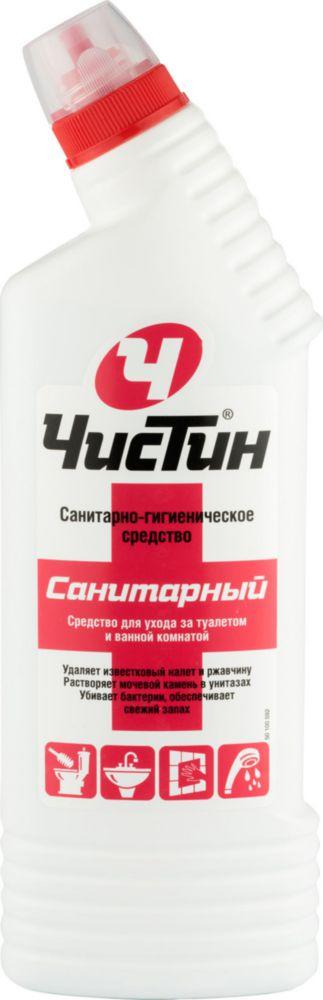 Санитарно-гигиеническое средство для туалета и ванной Чистин санитарный 750 г.