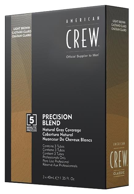Купить Краска для волос American Crew Precision Blend пепельный оттенок 5/6 3х40 мл