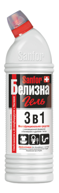 Универсальное чистящее средство Sanfor белизна гель
