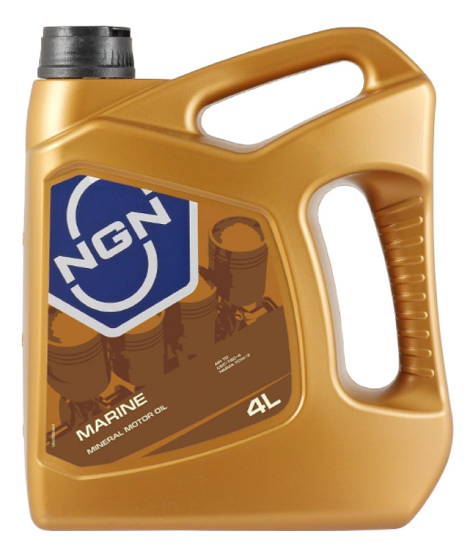 Моторное масло NGN Marine 5W 40 4л