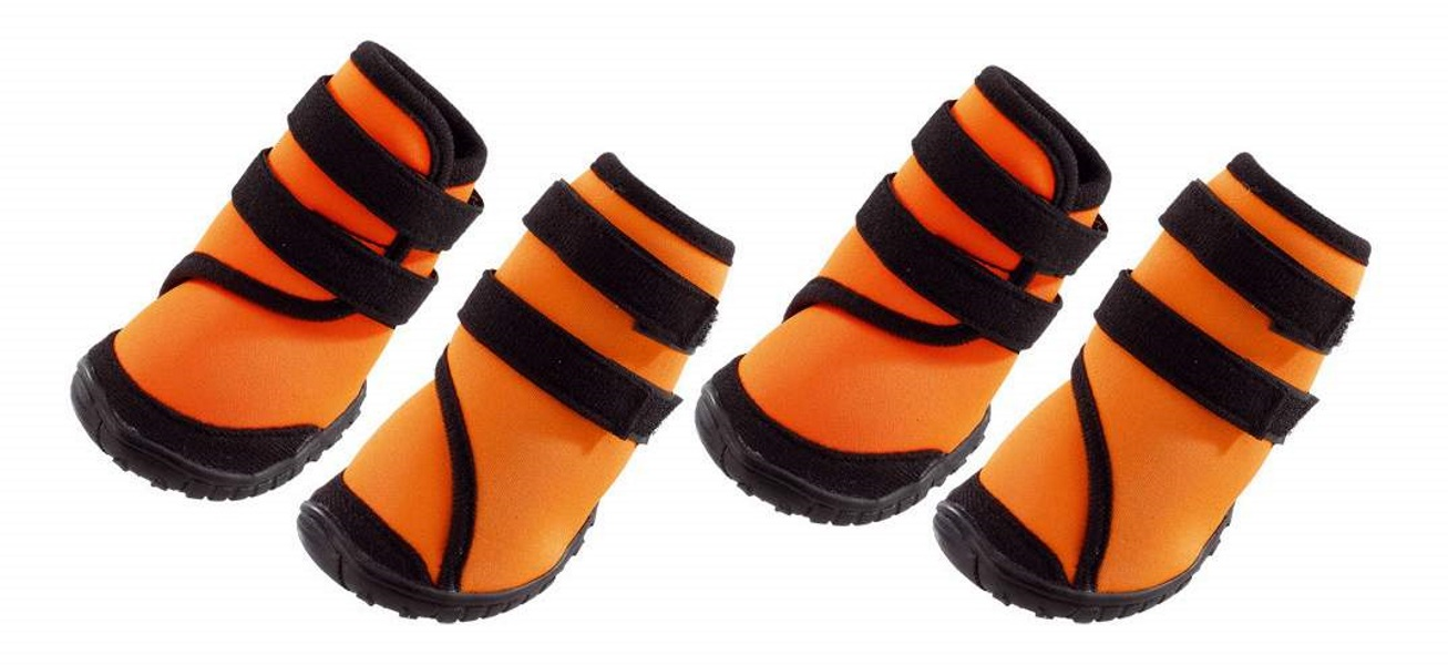 Обувь для собак Ferplast размер XL, 4 шт оранжевый, черный