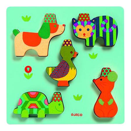 Купить Деревянная игрушка для малышей Djeco Вкладыш Юко, Развивающие игрушки