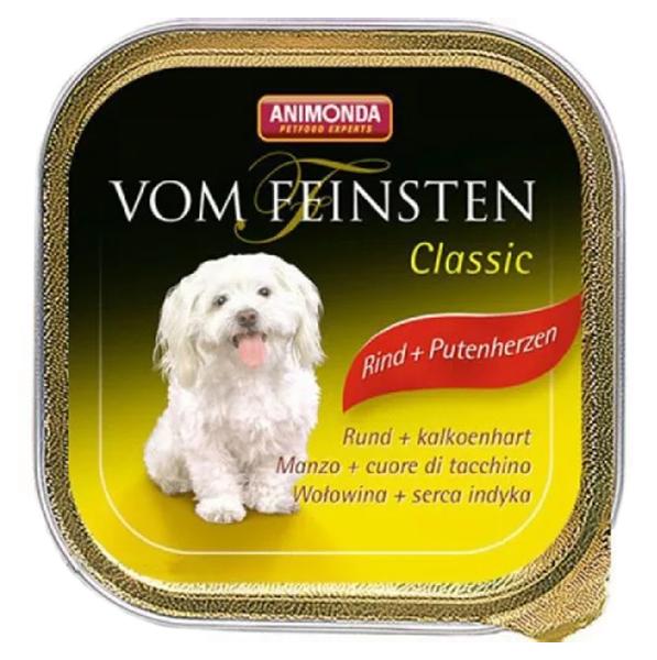 Консервы для собак Animonda Vom Feinsten Adult, говядина, сердце индейки, 150г фото