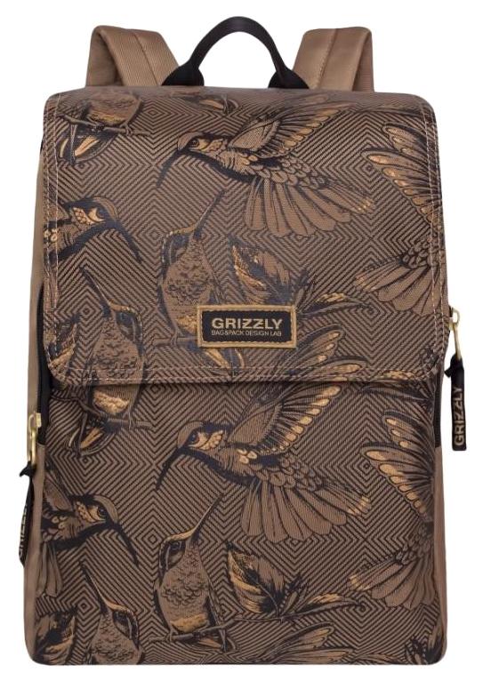 Рюкзак школьный Grizzly RD-831-1 /2 бежевый, Школьные рюкзаки и ранцы  - купить со скидкой