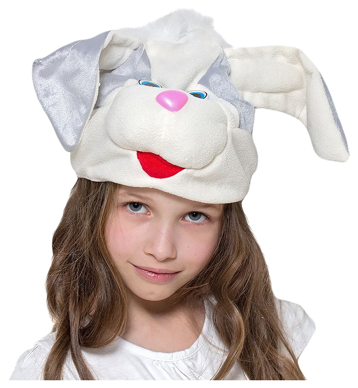 Карнавальная шапка Зайчик серый, 54 56