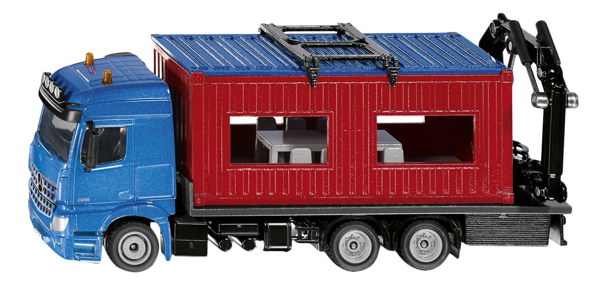 Купить Коллекционная модель Siku Mercedes Benz Arocs со строительным контейнером, Коллекционные модели