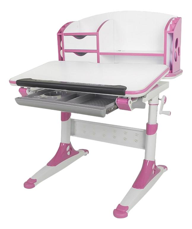 Стол письменный Aivengo-S бело-розовый Mealux
