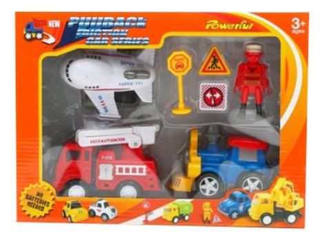 Набор инерционных машин с аксессуарами Shenzhen Toys