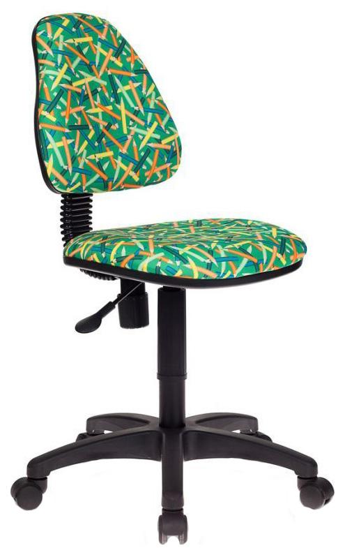 Купить Кресло детское компьютерное Бюрократ KD-4/PENCIL-GN Зеленый карандаши, Детские стульчики