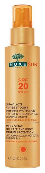 Купить Спрей для загара Nuxe Spray Lacté Visage et Corps SPF 20 Sun 150 мл