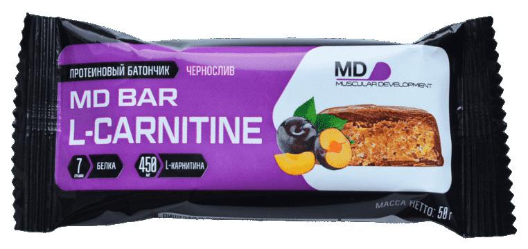 Батончик с L карнитином MD l carnitine