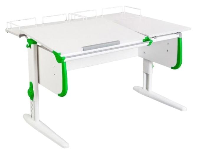 Парта Дэми White Double СУТ 25-01 С Белый/Зеленый