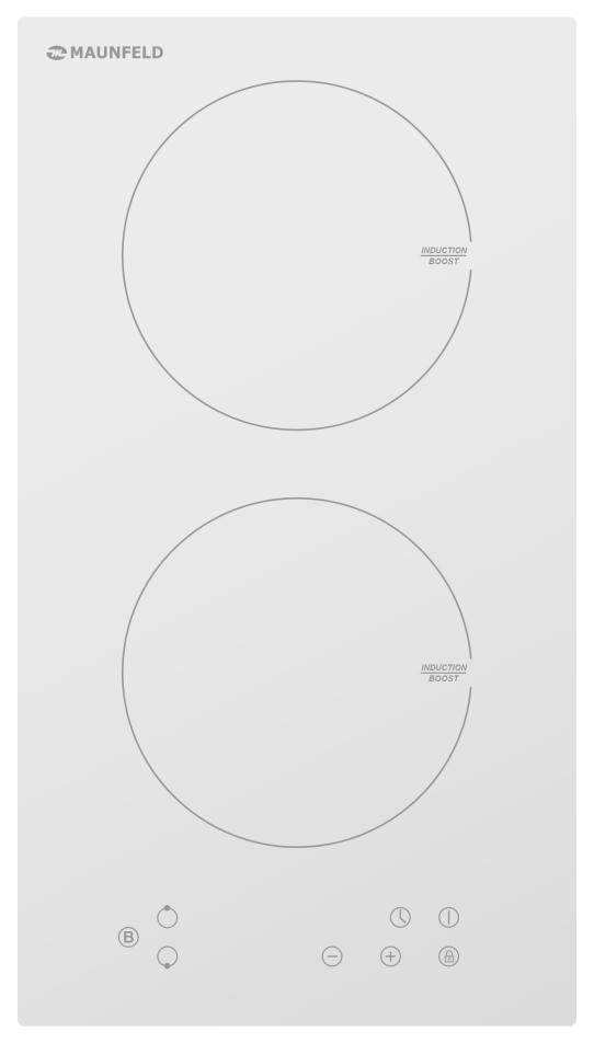 Встраиваемая варочная панель индукционная MAUNFELD EVI.292-WH White фото