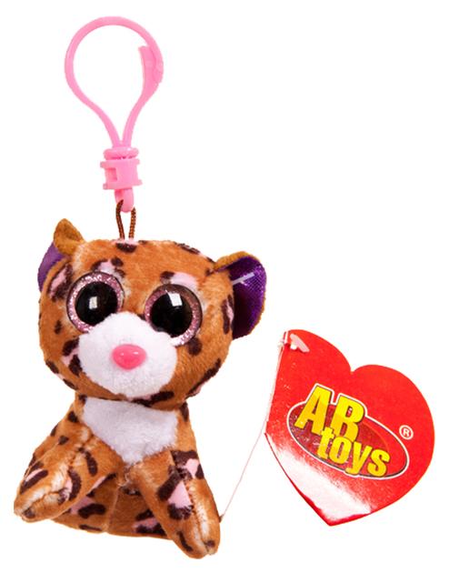 Купить Мягкая игрушка ABtoys Леопард коричневый, на брелке 8 см, Мягкие игрушки антистресс