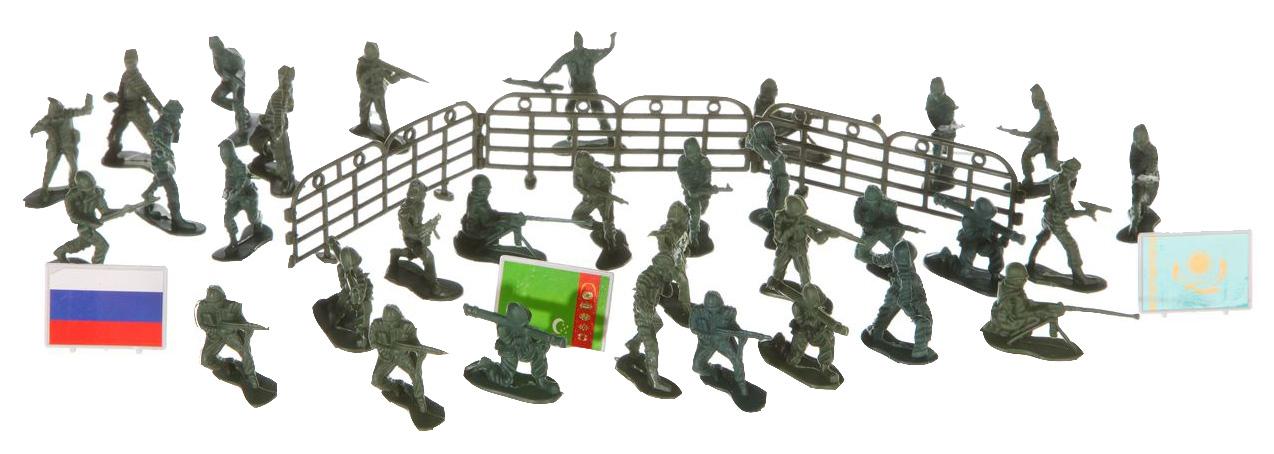 Купить Военный транспорт Play Smart Набор военной техники с солдатами пластик К35510, PLAYSMART, Наборы игрушечного транспорта