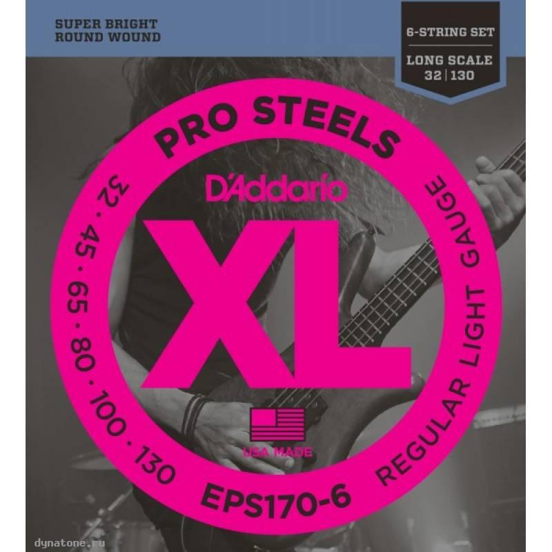 Струны для бас-гитары D ADDARIO EPS170 6