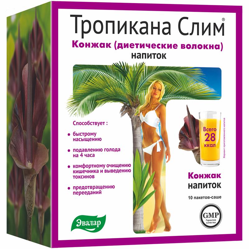 Диетические волокна Тропикана слим Конжак 10 саше