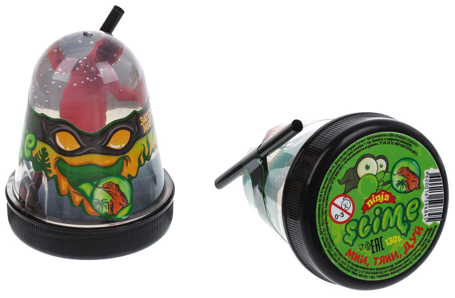Купить Лизун Ninja Slime Затерянный мир - Динозавр, 130 гр. Волшебный мир,