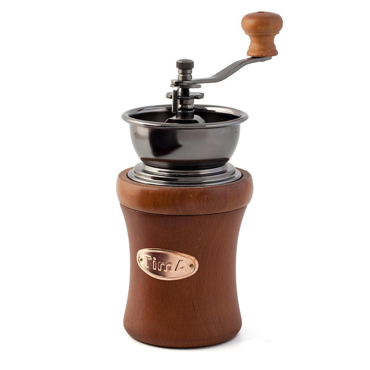 Tima Кофемолка деревянная ручная (круглая)
