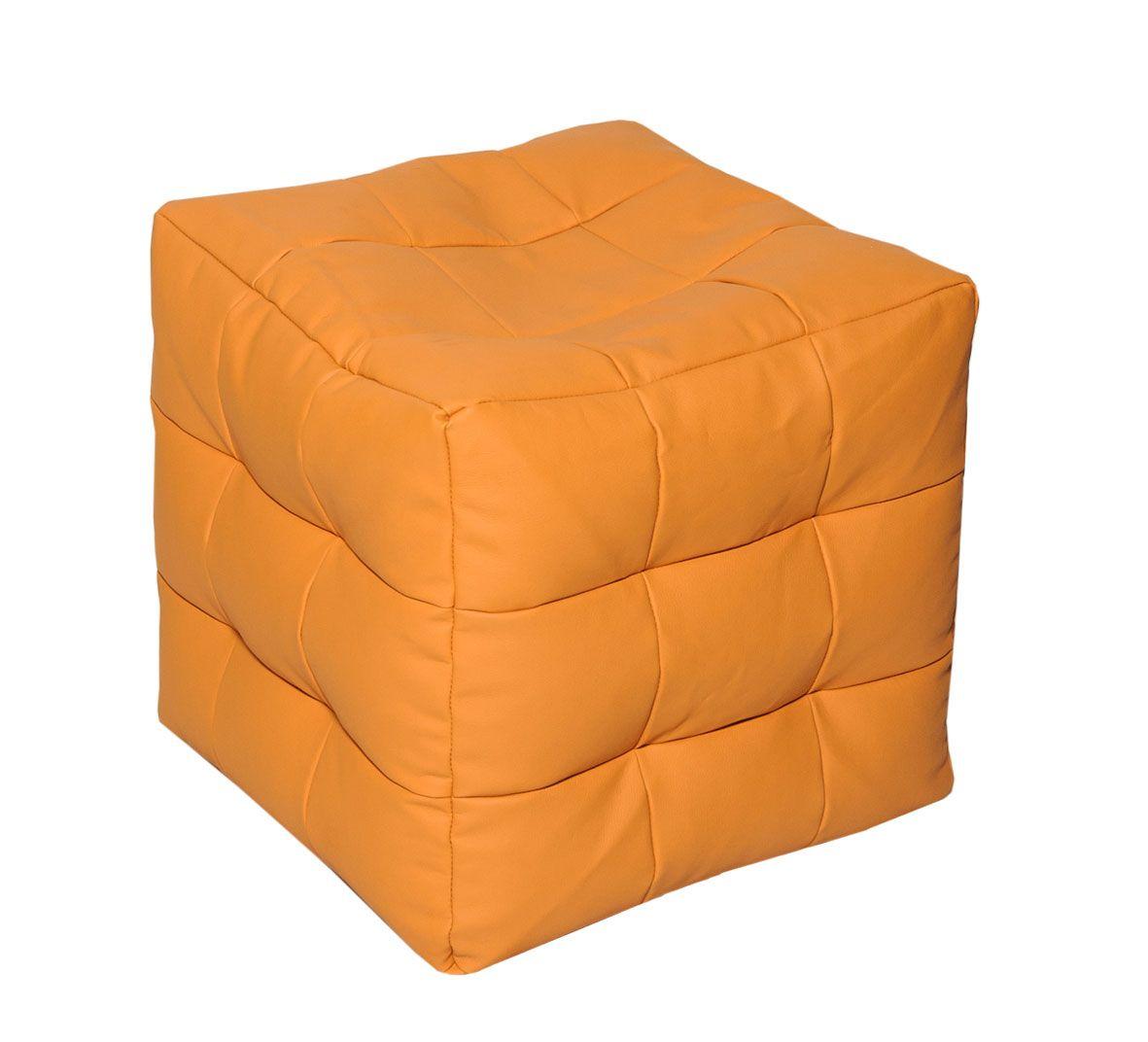 Кресло-мешок Папа Пуф Мини, размер XS, экокожа, оранжевый