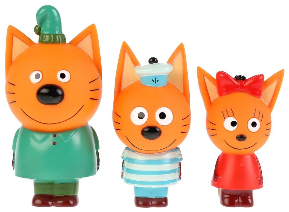 Купить Набор из 3-х игрушек для ванны Капитошка Три кота, Игрушки для купания