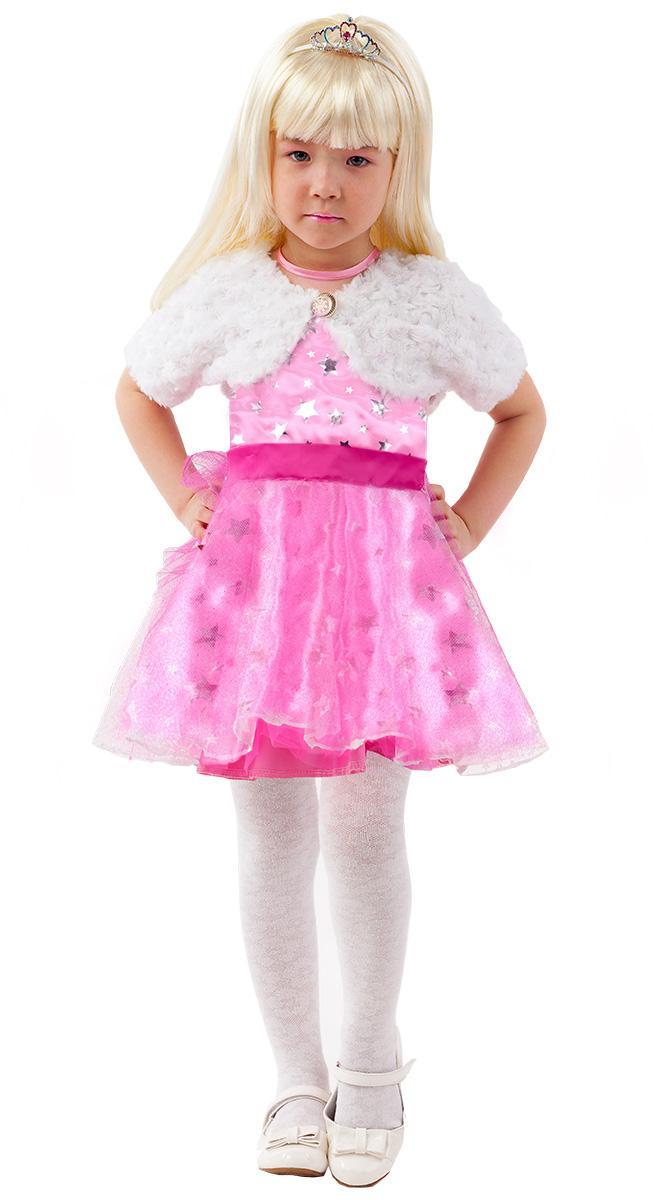 Купить 2094, Карнавальный костюм Батик Барби, цв. розовый р.134,