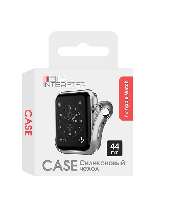 Чехол InterStep для Apple Watch 44mm Silver