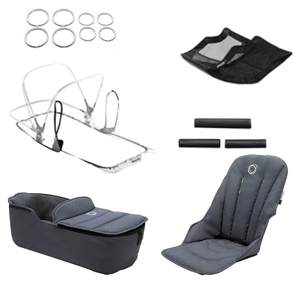 Купить Комплект Bugaboo Fox (Бугабу Фокс) стильный style set STEEL BLUE 230255ST01, Комплектующие для колясок