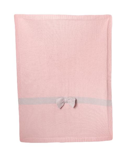 Купить Одеяло Bizzi Growin (Биззи Гровин) Bow Detail 70*90 вязанное BG034, Одеяла для новорожденных