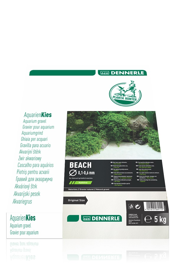 Грунт-песок Dennerle Nature Gravel PlantaHunter Beach 5кг 0,1-0,6мм
