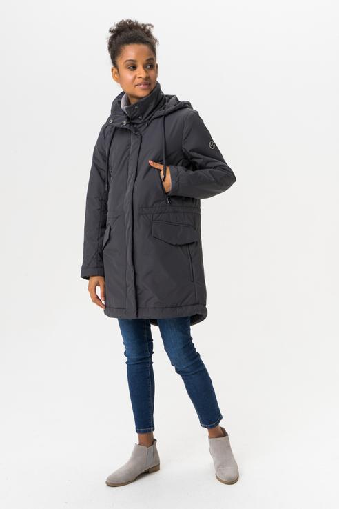 Куртка женская Finn Flare A19-11016 серая XS фото