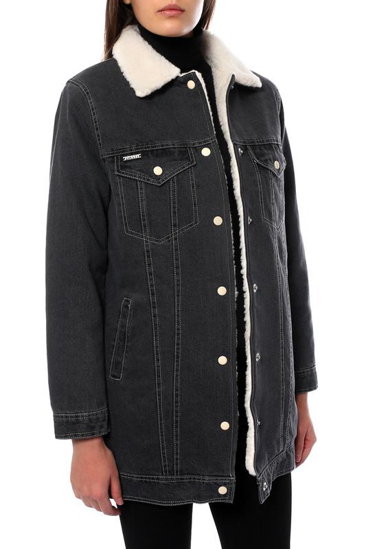 Джинсовая куртка женская DASTI 804DS201878895 черная XS