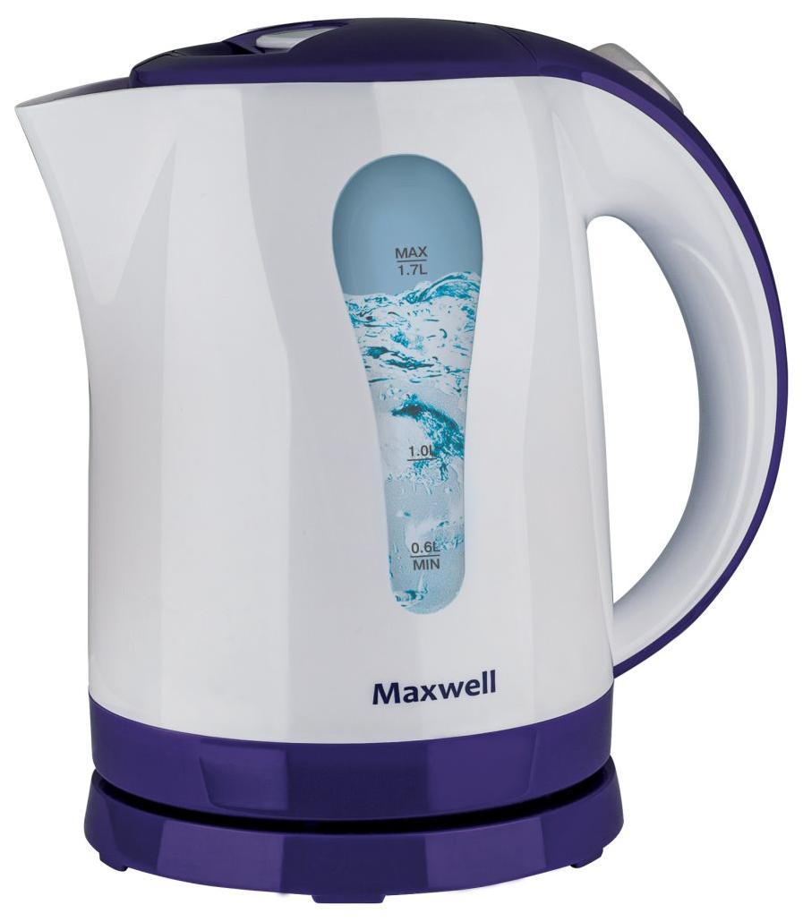 Чайник электрический Maxwell MW 1096TR White/Blue