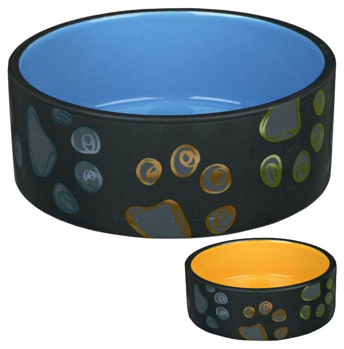 Одинарная миска для собак TRIXIE, керамика, разноцветный,
