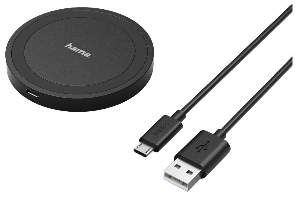 Беспроводное зарядное устройство Hama Basix Line Black 00173674
