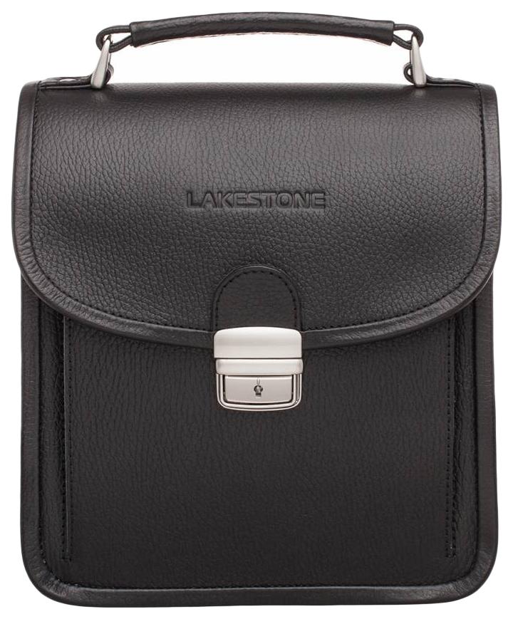 Портфель мужской кожаный Lakestone Bishop черный фото