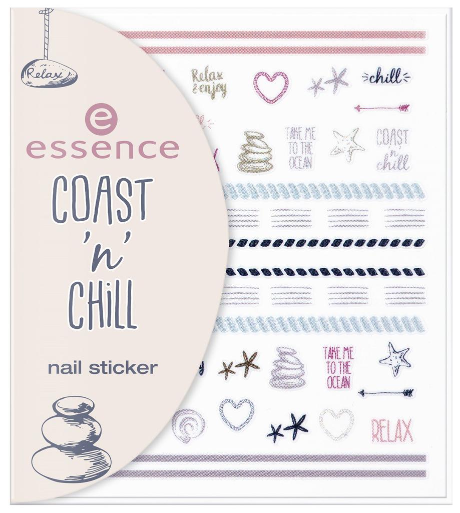 Наклейки для ногтей essence Coast 'N' Chill Nail
