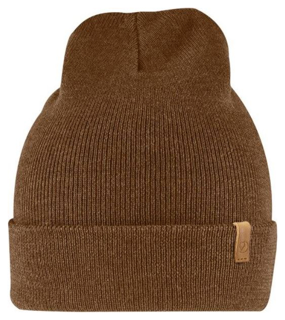 Шапка мужская FjallRaven Classic Knit Hat коричневая