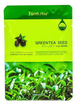 Купить Маска для лица Farmstay с экстрактом семян зеленого чая