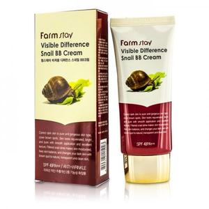 Крем ББ восстанавливающий улиточный FarmStay Visible Difference Snail BB Cream 50гр фото