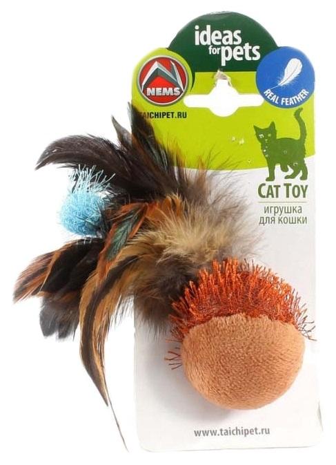 Игрушка для кошек Nems Мяч с перьями